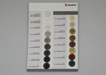 Sample Card Silicones WÜRTH