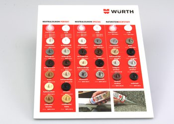Würth Sample Card Neutral Silicones